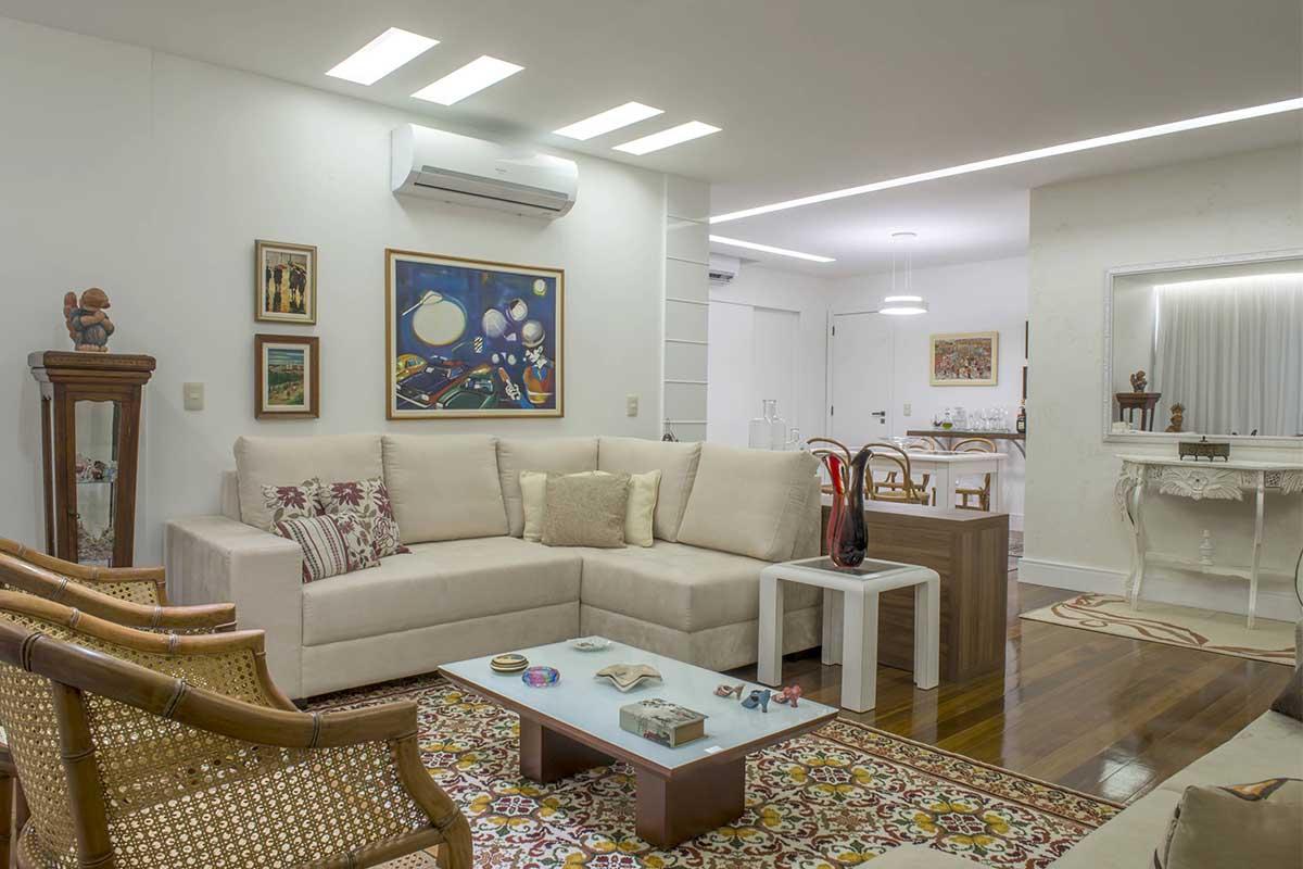 Reforma e arquitetura de interiores em apartamento no Aterro do Flamengo
